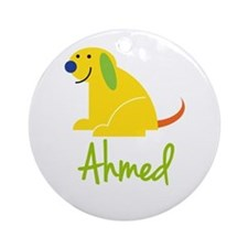 Ahmed Loves Puppies Ornament (Round)