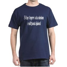 "Latin: ""If you can read this"" Blue T-Shirt"
