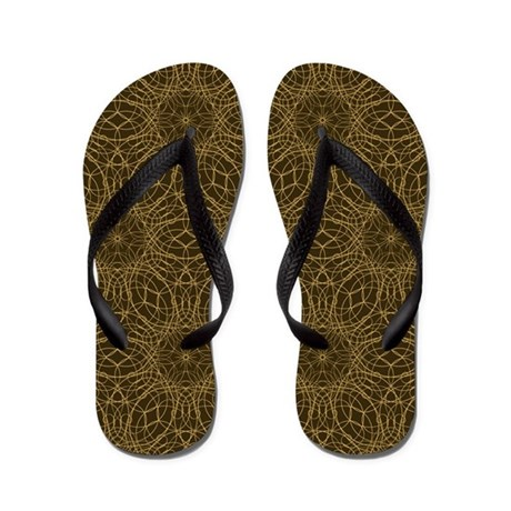 Brown circle graphic - Flip Flops