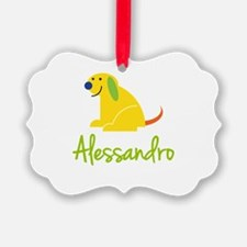 Alessandro Loves Puppies Ornament