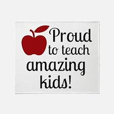 Proud Teacher Throw Blanket
