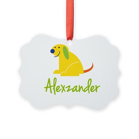 Alexzander Loves Puppies Ornament