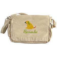 Alexzander Loves Puppies Messenger Bag