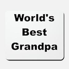 WORLDS BEST GRANDPA Mousepad