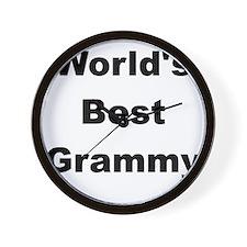 WORLDS BEST GRAMMY Wall Clock