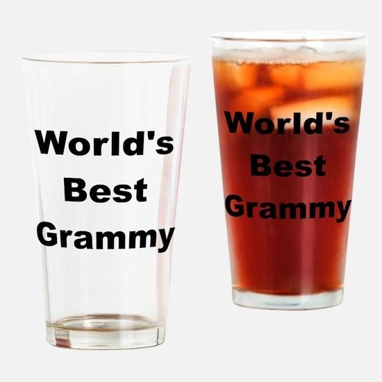 WORLDS BEST GRAMMY Drinking Glass