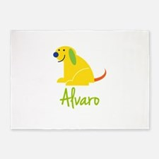 Alvaro Loves Puppies 5'x7'Area Rug
