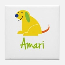 Amari Loves Puppies Tile Coaster
