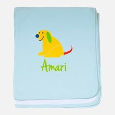 Amari Loves Puppies baby blanket