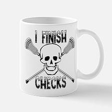 Lacrosse I Finish Checks Mug