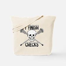 Lacrosse I Finish Checks Tote Bag