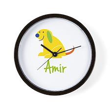 Amir Loves Puppies Wall Clock