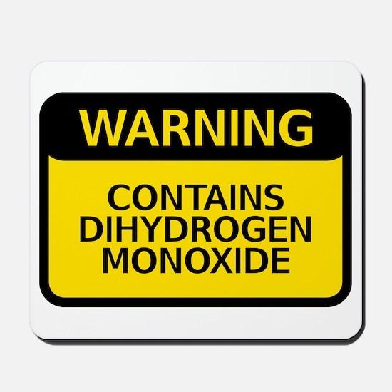 dihydrogen monoxide Mousepad