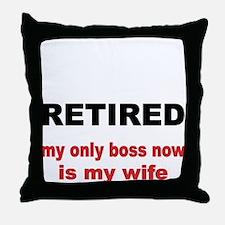 Retired Throw Pillow