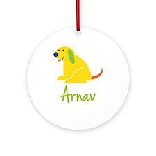 Arnav Loves Puppies Ornament (Round)