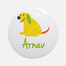 Arnav Loves Puppies Ornament (Round)