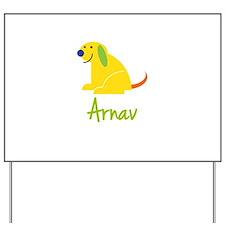 Arnav Loves Puppies Yard Sign