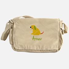 Arnav Loves Puppies Messenger Bag
