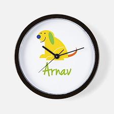 Arnav Loves Puppies Wall Clock
