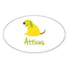 Atticus Loves Puppies Decal