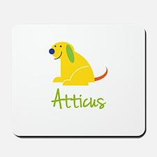 Atticus Loves Puppies Mousepad