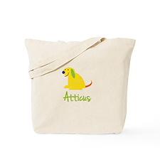 Atticus Loves Puppies Tote Bag