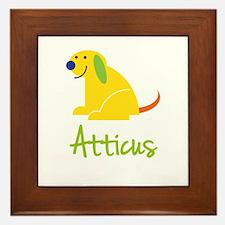Atticus Loves Puppies Framed Tile
