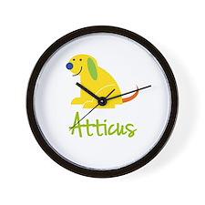 Atticus Loves Puppies Wall Clock