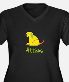 Atticus Loves Puppies Plus Size T-Shirt