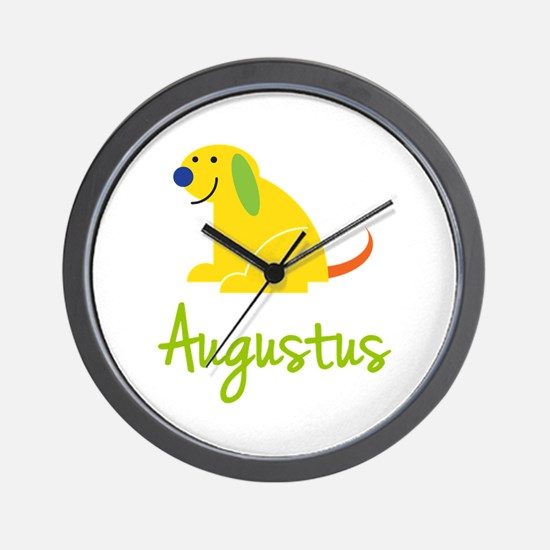 Augustus Loves Puppies Wall Clock