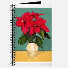 Xmas Van Gogh Poinsettias Journal