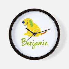 Benjamin Loves Puppies Wall Clock