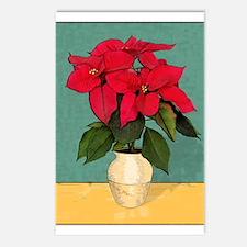 Xmas Van Gogh Poinsettias Postcards (Package of 8)