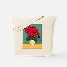 Xmas Van Gogh Poinsettias Tote Bag