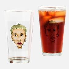 Bad body piercing Drinking Glass