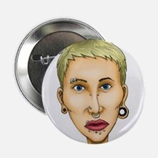 "Bad body piercing 2.25"" Button"