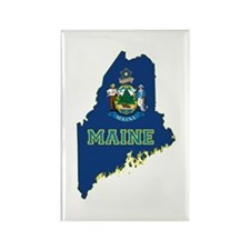 Maine Flag Rectangle Magnet