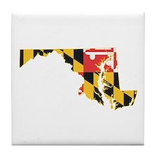 Maryland Flag Tile Coaster