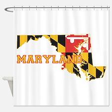 Maryland Flag Shower Curtain
