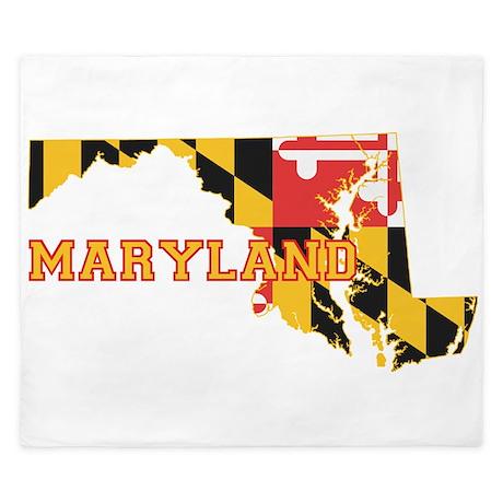 Maryland Flag King Duvet