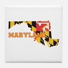 Maryland Flag Tile Coaster