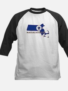 Massachusetts Flag Kids Baseball Jersey