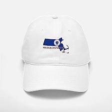 Massachusetts Flag Baseball Baseball Cap