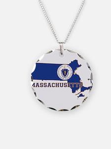 Massachusetts Flag Necklace