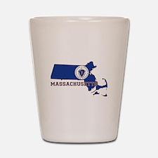 Massachusetts Flag Shot Glass