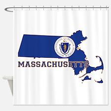 Massachusetts Flag Shower Curtain