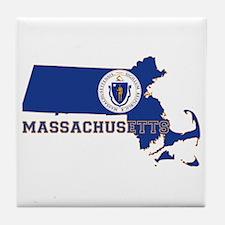Massachusetts Flag Tile Coaster