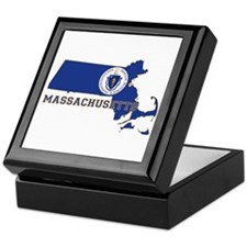 Massachusetts Flag Keepsake Box