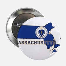"Massachusetts Flag 2.25"" Button"