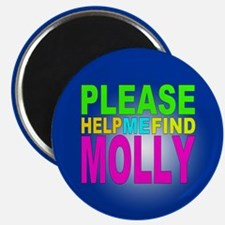 Please Help Me FInd Molly Button Magnet